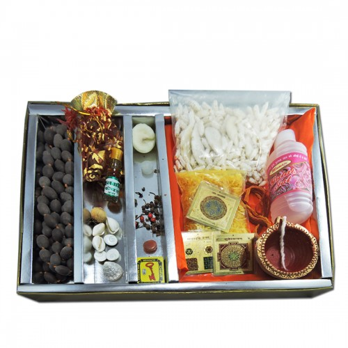 Dhanakarshan Wealth Energized Laxmi Pooja Samagri Kit For Performing Mystic Laxmi and Diwali Pooja