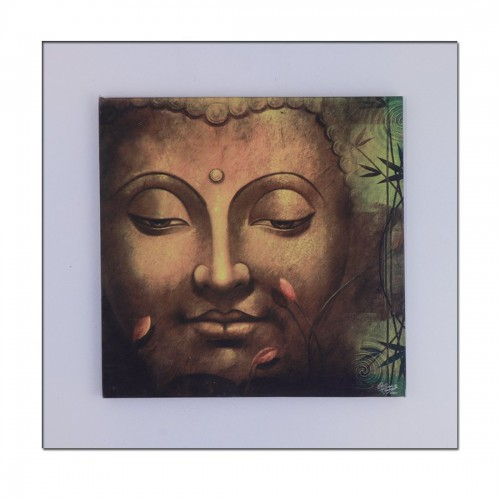 Ratnatraya Buddha Frame Wall Hanging | Home Décor and Gift Items